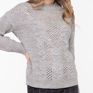 Open Knit Cable Stitch Sweater